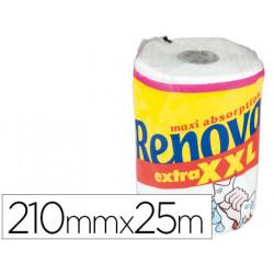 Papel de cocina renova jumbo ultra absorbente 42g/m2 ancho 210mm largo 25m