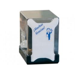 Dispensador higienico de servilletas acero inoxidable 130x100x100 mm