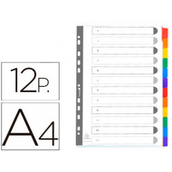 Separador exacompta cartulina juego de 12 separadores din a4multitaladro co
