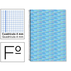 Cuaderno espiral liderpapel folio multilider tapa forrada 80h 80 gr cuadro