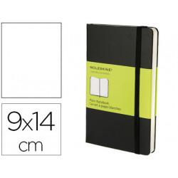 Libreta moleskine tapa dura liso 192 hojas color negro cierre con goma 90x1