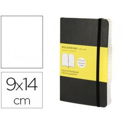 Libreta moleskine tapa blanda liso 192 hojas color negro cierre con goma 90
