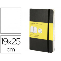 Libreta moleskine tapa blanda liso 192 hojas color negro cierre con goma 19