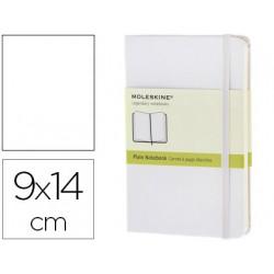 Libreta moleskine tapa dura liso 192 hojas color blanco cierre con goma 90x