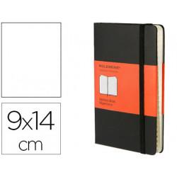 Libreta moleskine tapa dura indice 192 hojas color negro cierre con goma 90