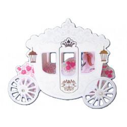 Tarjeta postal arguval carroza de boda 3d modelos surtidos
