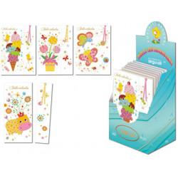 Tarjeta postal infantil + punto lectura arguval modelos surtidos
