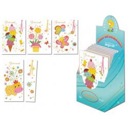 Tarjeta postal infantil + punto lectura arguval modelos surtidos euskera