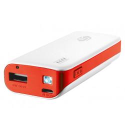 Bateria auxiliar trust para tablets y moviles color blanco 4400mah