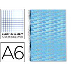 Cuaderno espiral liderpapel a6 micro multilider tapa forrada 140h 80 gr cua