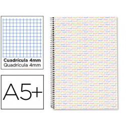 Cuaderno espiral liderpapel cuarto multilider tapa forrada 80h 80 gr cuadro