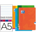 Libreta escolar oxford openflex tapa flexible optik paper 48 hojas din a5 r