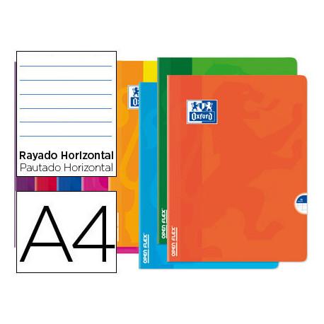 Libreta escolar oxford openflex tapa flexible optik paper 48 hojas din a4 r