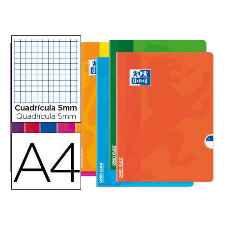 Libreta escolar oxford openflex tapa flexible optik paper 48 hojas din a4 c