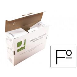 Caja archivo definitivo qconnect folio carton reciclado cierre con lenguet