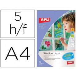 Film transparente apli para ventanas din a4 para impresora inkjet paquete d