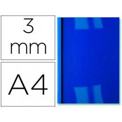 Tapa encuadernacion termica de pvc y cartulina lomo de 3mm caja de 100 unid
