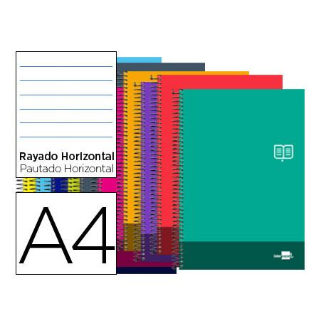 Cuaderno espiral liderpapel a4 micro discover tapa blanda 80h 80 gr horizon