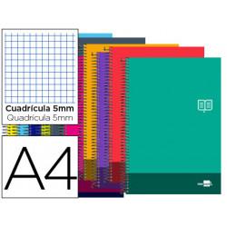 Cuaderno espiral liderpapel a4 micro discover tapa blanda 80h 80 gr cuadro