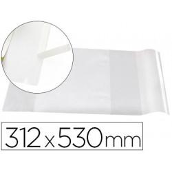 Forralibro liderpapel nº31 con solapa ajustable adhesivo 312 x 530 mm