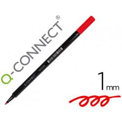 Rotulador qconnect punta de fibra rojo punta redonda 1 mm