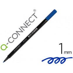 Rotulador qconnect punta de fibra azul punta redonda 1 mm