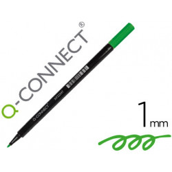 Rotulador qconnect punta de fibra verde punta redonda 1 mm