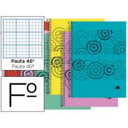 Cuaderno espiral liderpapel folio imagine tapa plastico 80h 60 gr rayado nº