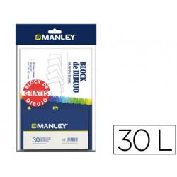 Lapices cera manley caja de 30 colores + bloc dibujo obsequio