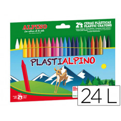 Lapices cera plastialpino caja de 24 colores
