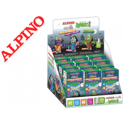 Pasta para modelar alpino magic dought walking zombies expositor de 12 unid