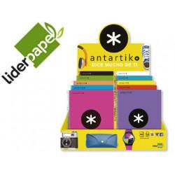 Cuaderno espiral liderpapel a4 micro antartik 120h 100 gr cuadro 5mm 5 band
