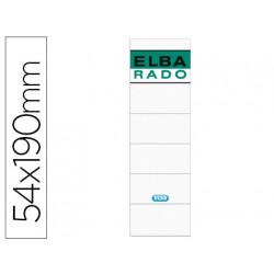 Etiquetas adhesivas elba lomera color blanco 54 x 190 mm pack de 10 unidade