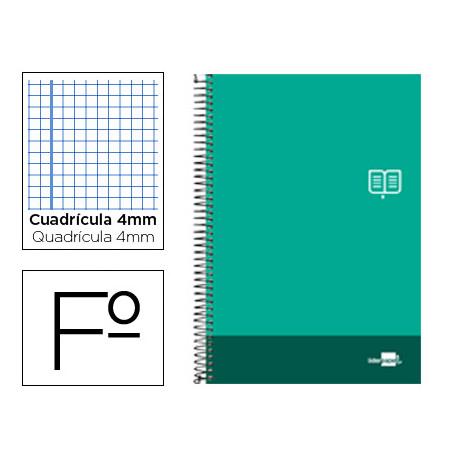 Cuaderno espiral liderpapel folio discover tapa blanda 80h 80 gr cuadro 4mm