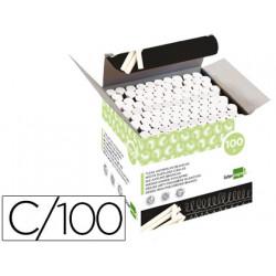 Tiza blanca antipolvo liderpapel caja de 100 unidades