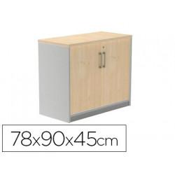 Armario rocada con un estante y dos puertas enteras serie store 78x90x45 cm
