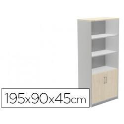 Armario rocada con cuatro estante y dos puertas inferiores serie store 195x