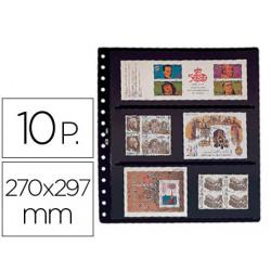 Funda pardo clasificadora de sellos 8 bandas doble cara fondo negro 15 anil