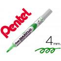 Rotulador maxiflo pentel para pizarra blanca color verde