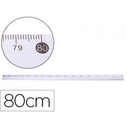 Regla metalica qconnect aluminio 80 cm