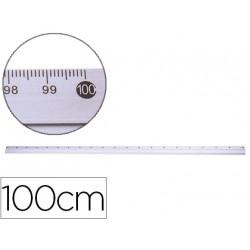 Regla metalica qconnect aluminio 1 m