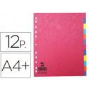 Separador qconnect cartulina brillo juego de 12 separadores din a4+