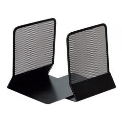 Apoyalibros metalico qconnect kf15098 negro juego 135x152x165 mm