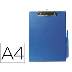 Portanotas qconnect miniclips pvc din a4 azul