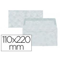 Sobre liderpapel americano azul pergamino 110x220 mm 80 g/m pack de 9 unida