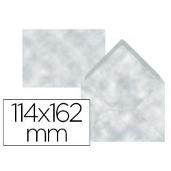 Sobre liderpapel c6 azul pergamino 114x162 mm 80 g/m pack de 15 unidades