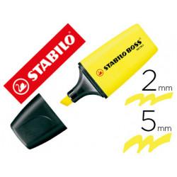 Rotulador stabilo boss fluorescente mini amarillo
