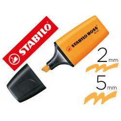 Rotulador stabilo boss fluorescente mini naranja