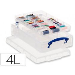 Contenedor plastico archivo 2000 tapa y cierre hermetico 4 litros transpare
