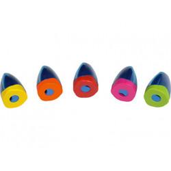 Sacapuntas m+r plastico jumbo un uso con deposito y tapa de segurdad colore